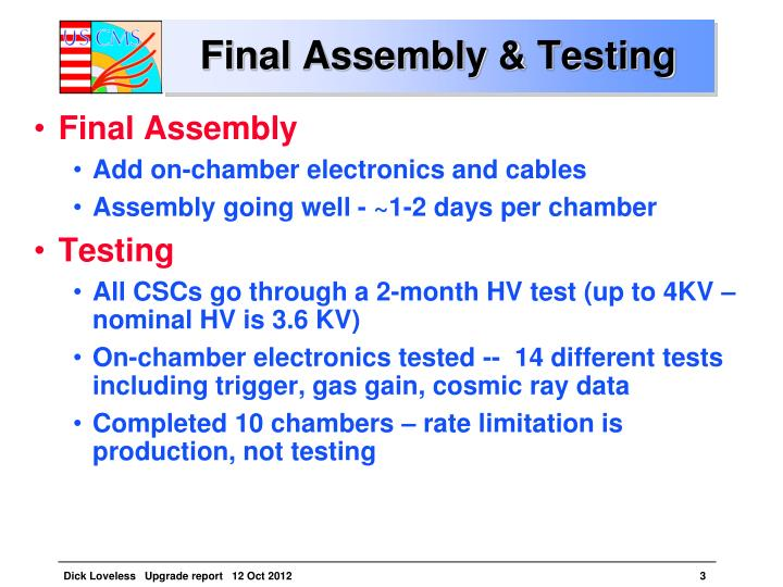 Final Assembly & Testing