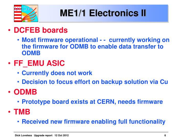 ME1/1 Electronics II