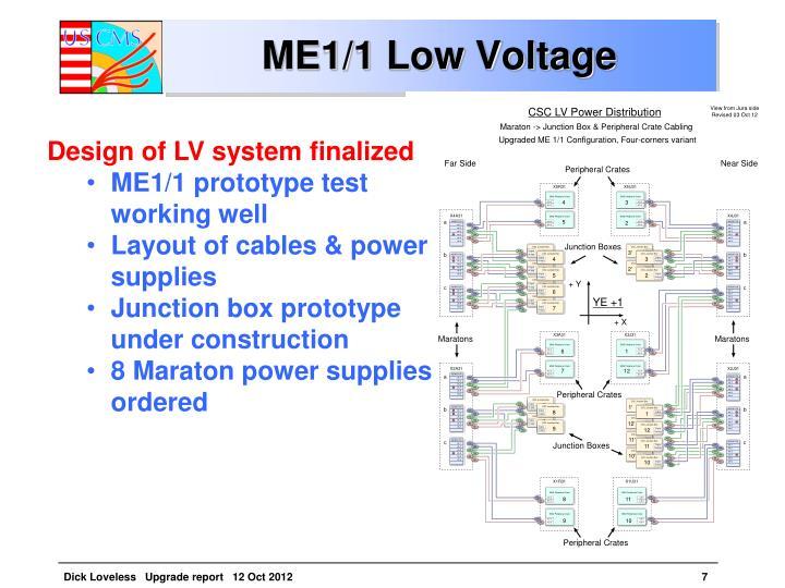 ME1/1 Low Voltage