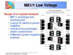 me1 1 low voltage