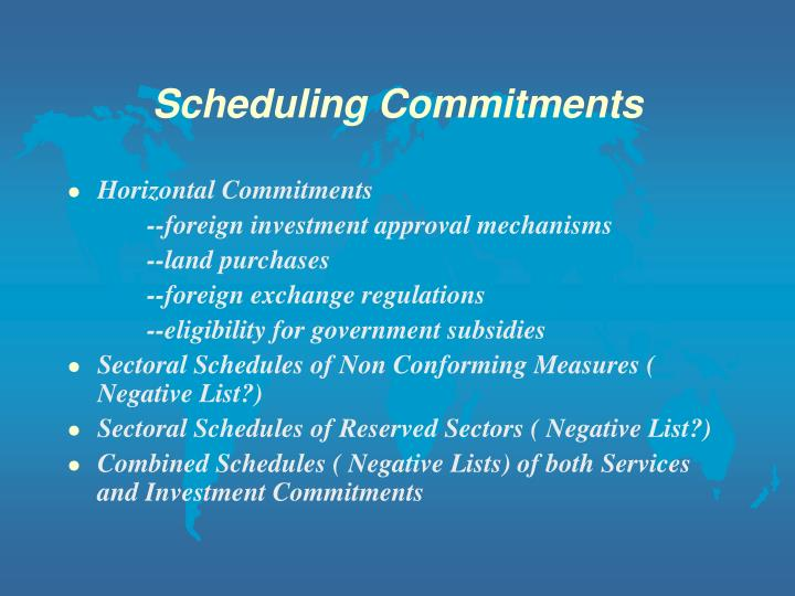 Scheduling Commitments
