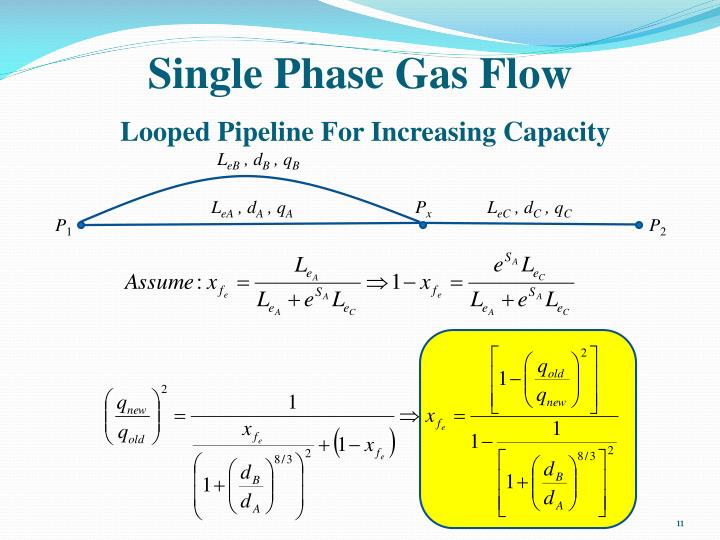 Single Phase Gas Flow