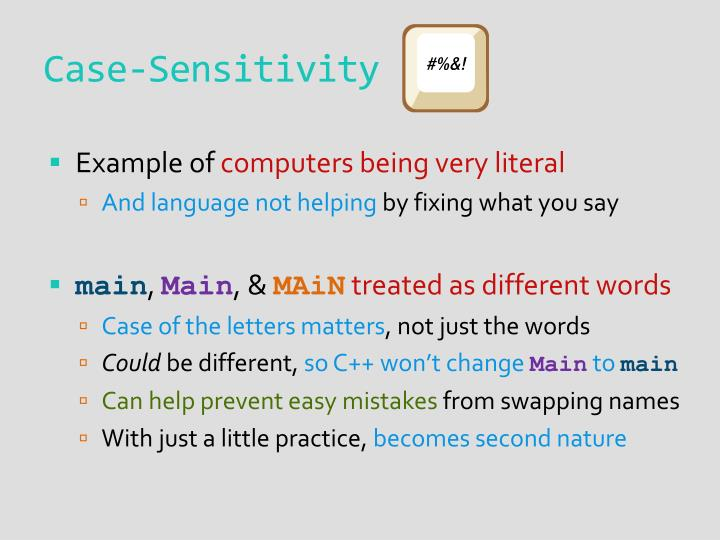 Case-Sensitivity