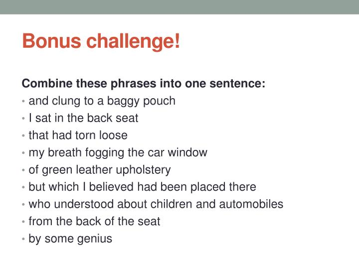 Bonus challenge!
