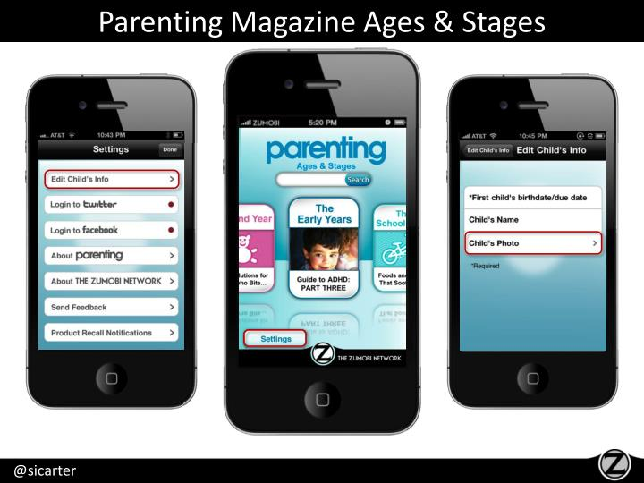Parenting Magazine Ages & Stages