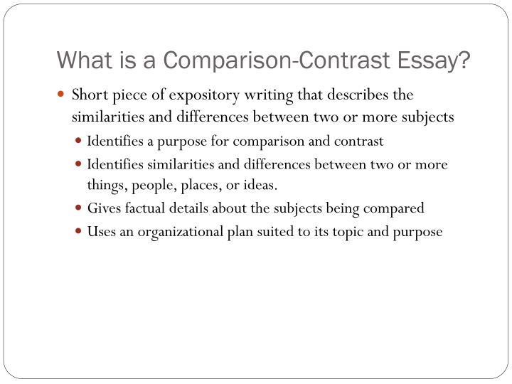 Characteristics of essay