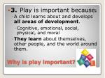 why is play important