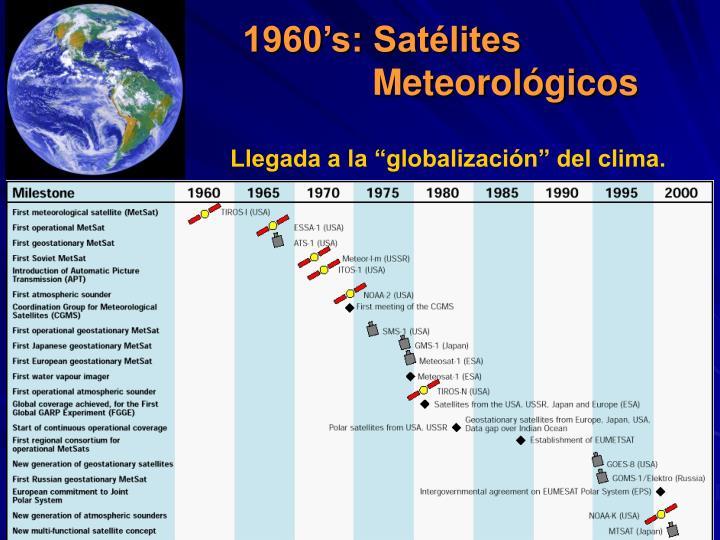 1960's: Satélites