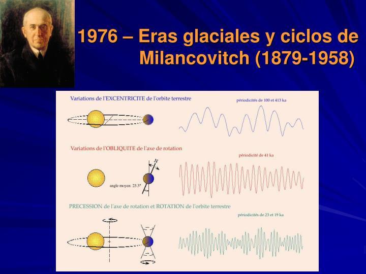 1976 – Eras glaciales y ciclos de