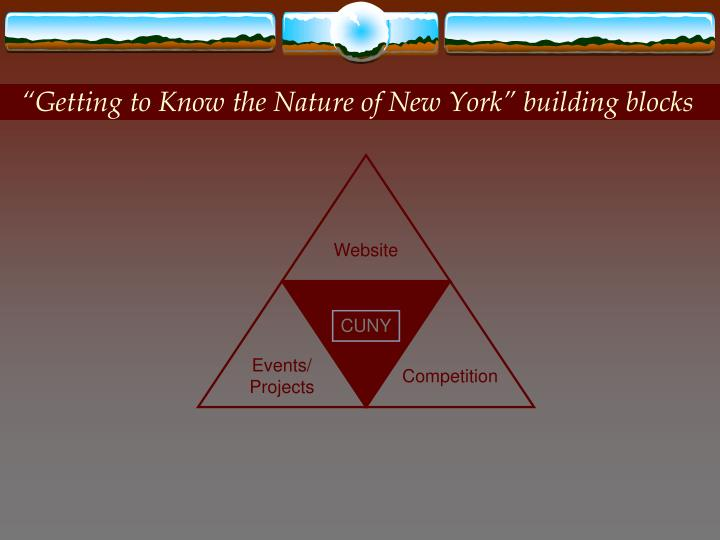 """Getting to Know the Nature of New York"" building blocks"