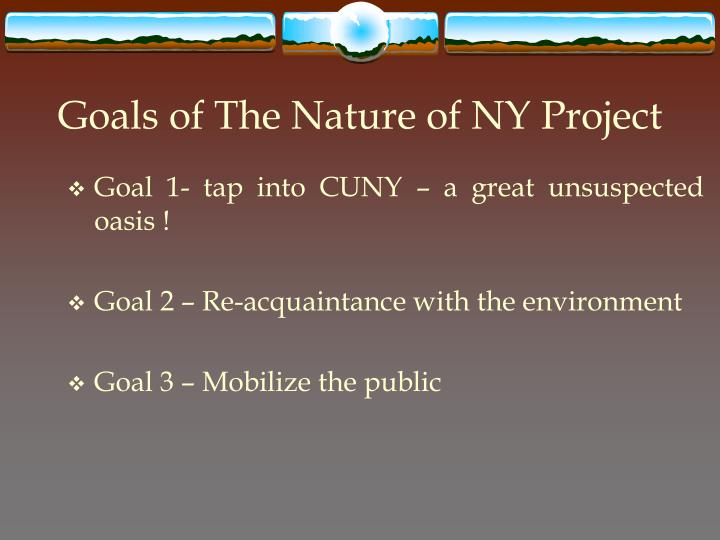 Goals of The Nature of NY Project