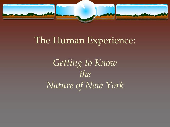 The Human Experience: