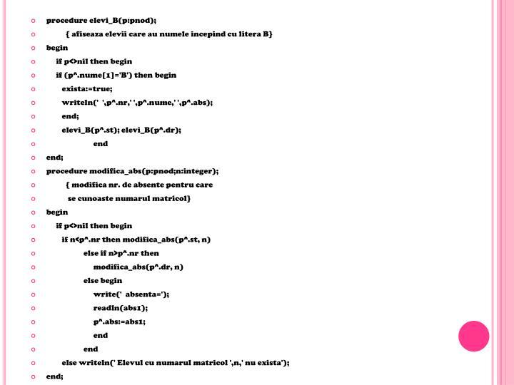 procedure elevi_B(p:pnod);