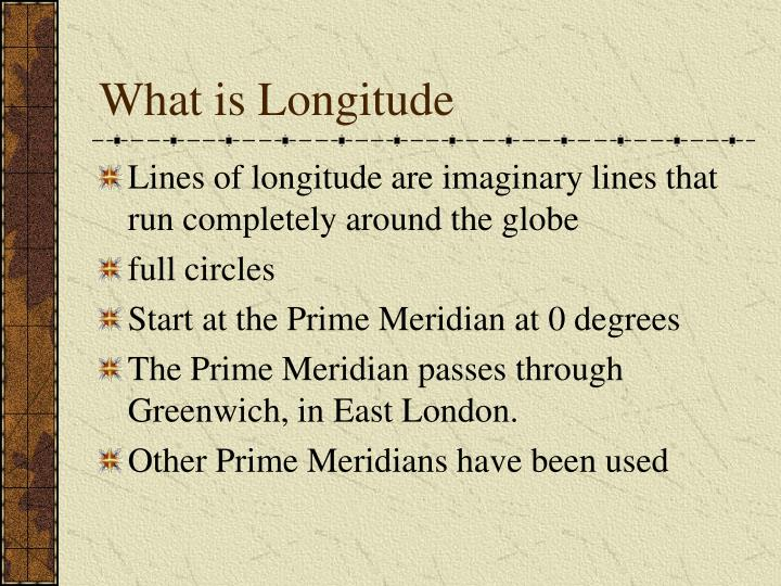 What is Longitude