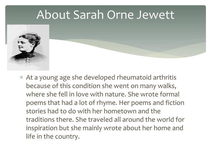 About sarah orne jewett