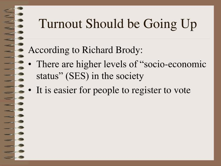 Turnout Should be Going Up
