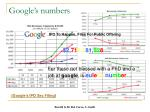 google s numbers