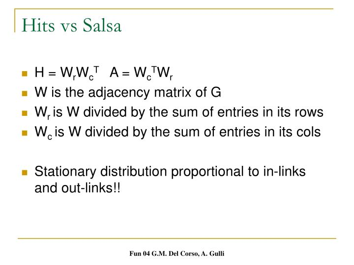 Hits vs Salsa