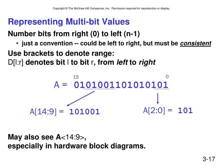 Representing Multi-bit Values