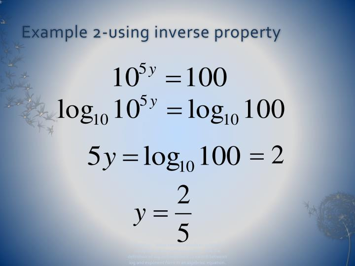 Example 2-using inverse property