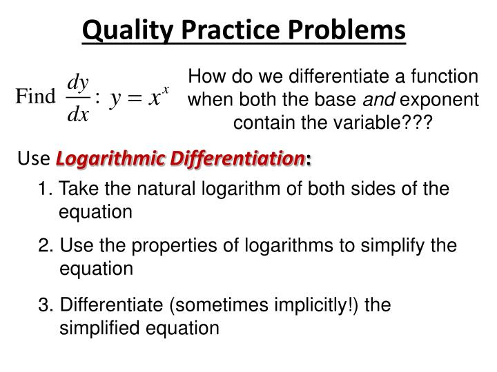 Quality Practice Problems