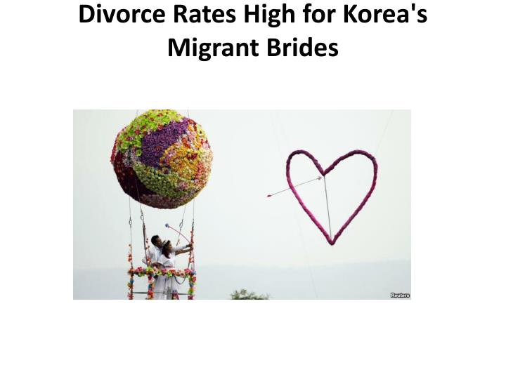 Divorce Rates High for Korea's Migrant Brides