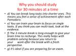 why you should study for 30 minutes at a time20