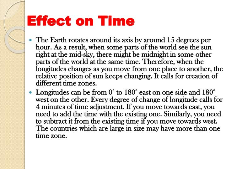 Effect on Time