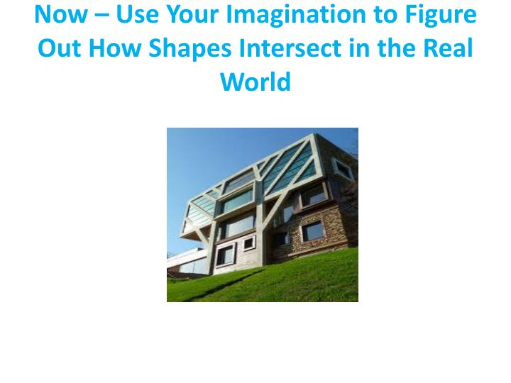 Now – Use Your Imagination to Figure Out How Shapes Intersect in the Real World