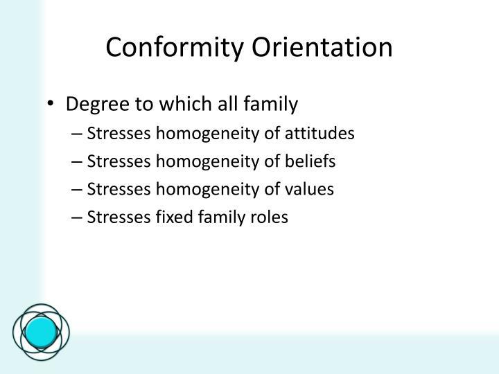 Conformity Orientation