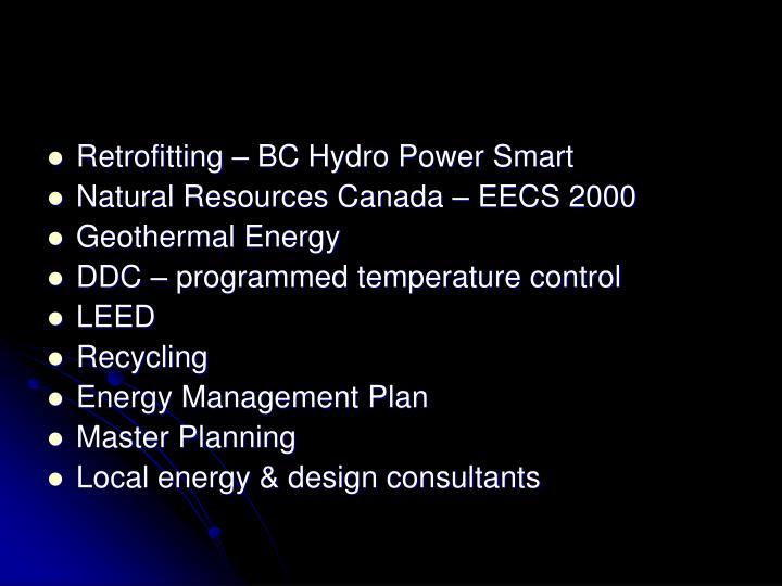 Retrofitting – BC Hydro Power Smart