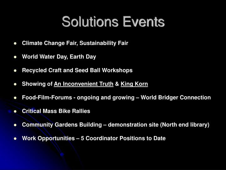 Solutions Events