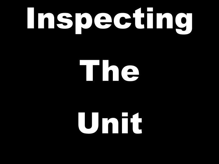 Inspecting