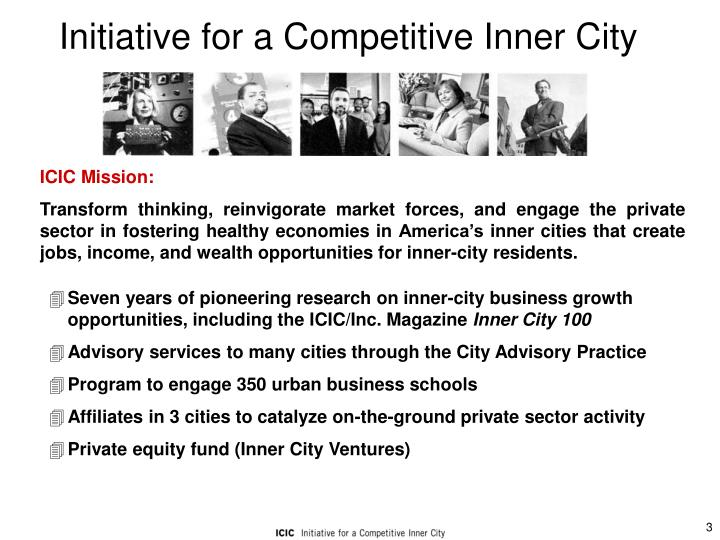 Initiative for a competitive inner city