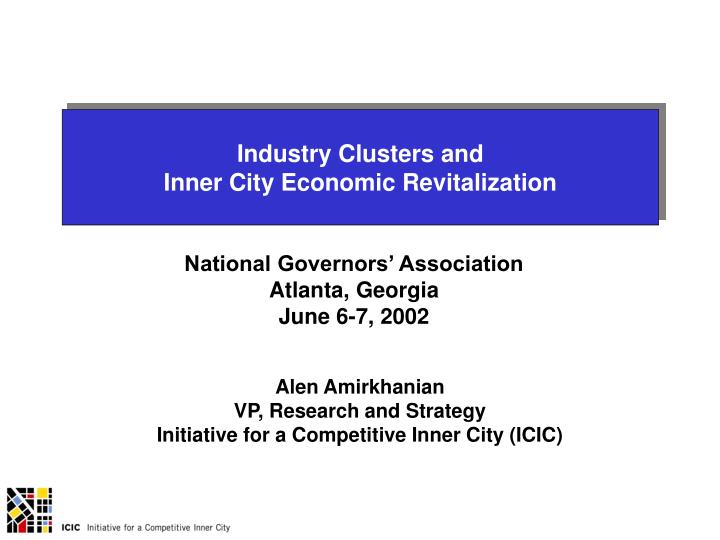 Industry Clusters and