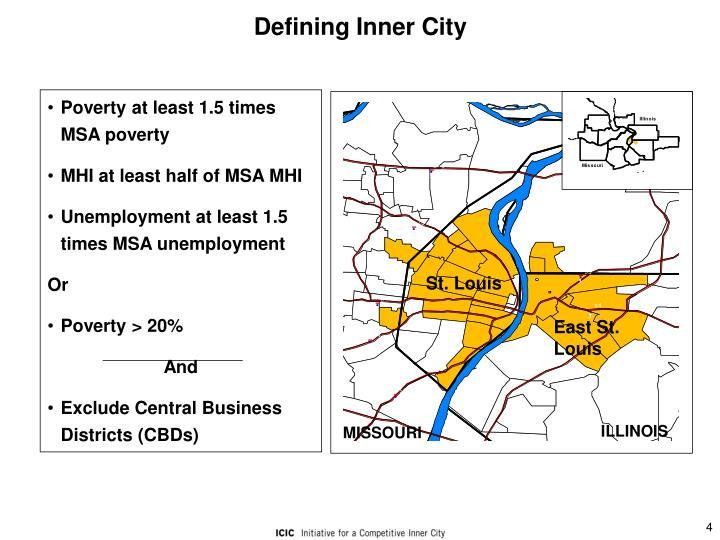 Defining Inner City
