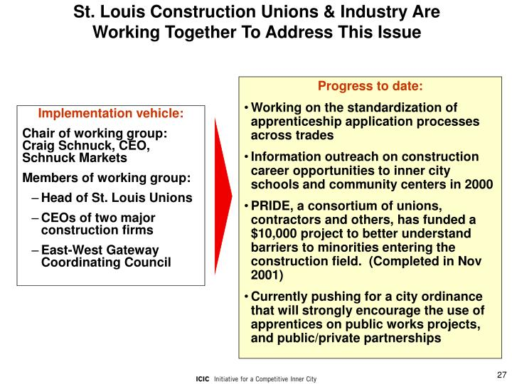 St. Louis Construction Unions & Industry Are Working Together To Address This Issue
