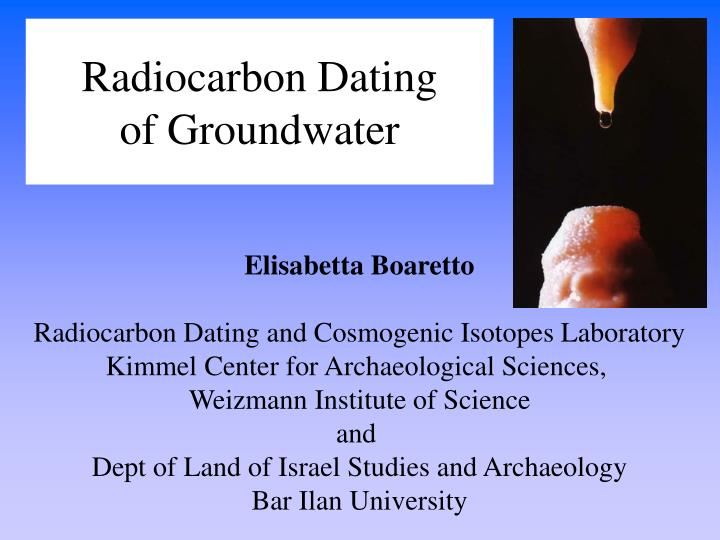14c dating groundwater