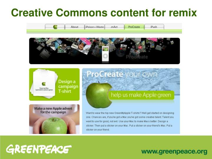 Creative Commons content for remix