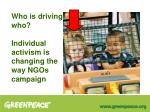 who is driving who individual activism is changing the way ngos campaign