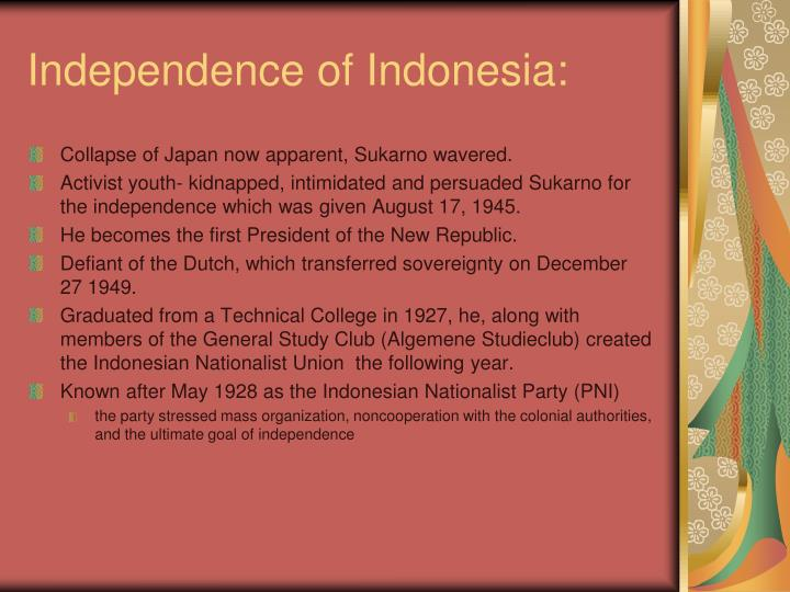 Independence of Indonesia: