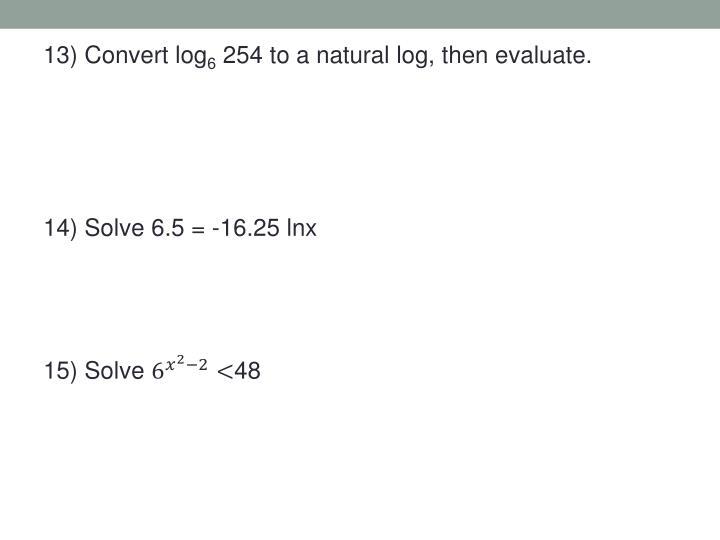 13) Convert