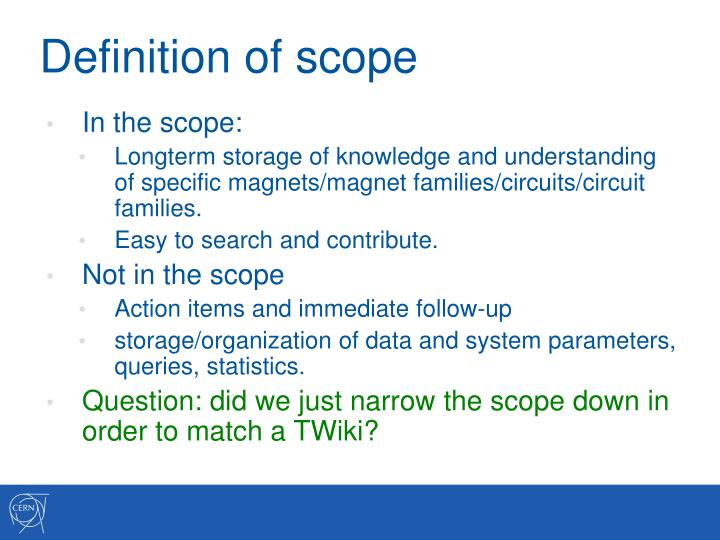 Definition of scope