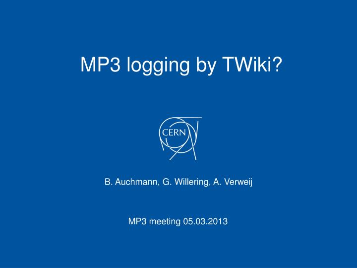 MP3 logging by