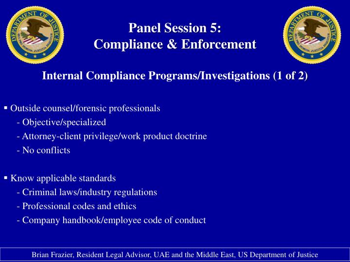 Panel Session 5: