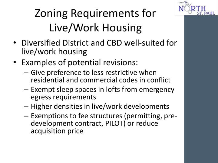 Zoning Requirements for Live/Work Housing