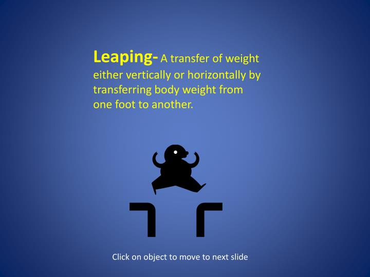 Leaping-
