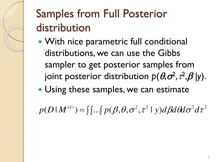 Samples from Full Posterior distribution