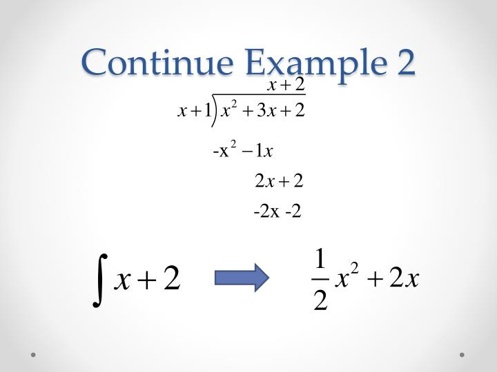 Continue Example 2