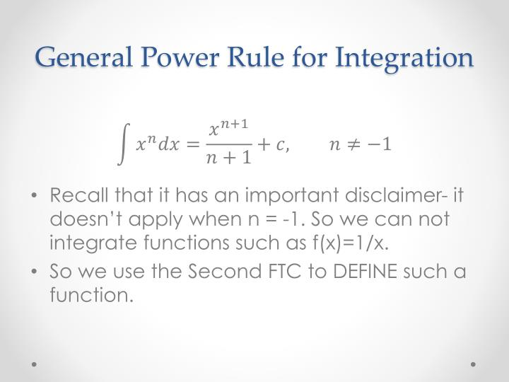 General Power Rule for Integration